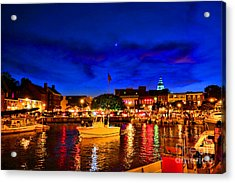 Annapolis Magic Night Acrylic Print