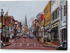 Annapolis Main Street Acrylic Print by Mary Susan Vaughn