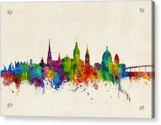 Acrylic Print featuring the digital art Annapolis Maryland Skyline by Michael Tompsett
