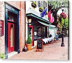 Annapolis Md - Restaurant On State Circle Acrylic Print by Susan Savad