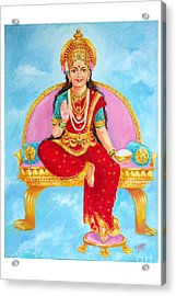 Annapurna Devi Acrylic Print by Kalpana Talpade Ranadive