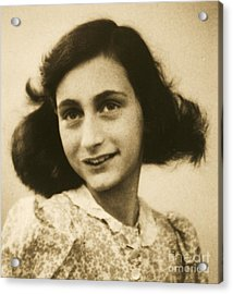 Anne Frank Acrylic Print by Roberto Prusso