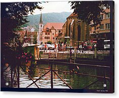 Annecy France Village Scene Acrylic Print