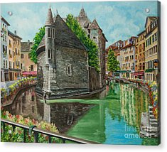 Annecy-the Venice Of France Acrylic Print