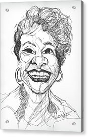 Annette Caricature Acrylic Print