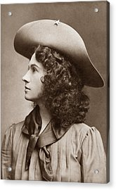 Annie Oakley - Little Sure Shot Acrylic Print by War Is Hell Store