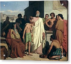 Annointing Of David By Saul Acrylic Print by Felix-Joseph Barrias