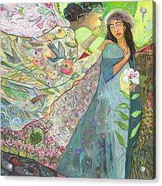 Annunciation Acrylic Print by Jen Norton
