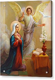 Annunciation To The Blessed Virgin Mary Acrylic Print by Svitozar Nenyuk