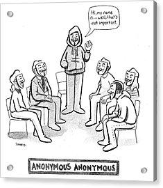 Anonymous Anonymous Acrylic Print