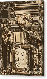 Anonymous Cyber Masks Acrylic Print