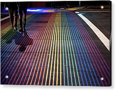 Acrylic Print featuring the photograph anonymous in the Castro  by Stephen Holst