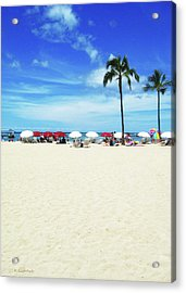 Another Beautiful Day In Waikiki Acrylic Print by Kerri Ligatich
