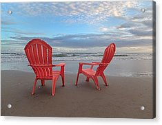 Another Busy Beach Day Acrylic Print