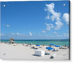 another fine day in South Beach Acrylic Print by Keiko Richter