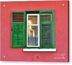 Another Green Shutter Acrylic Print