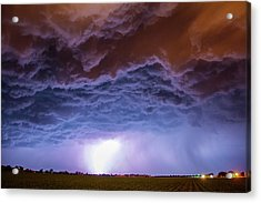 Acrylic Print featuring the photograph Another Impressive Nebraska Night Thunderstorm 007 by NebraskaSC