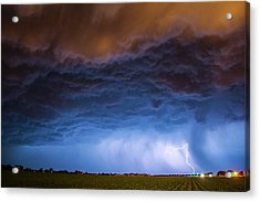 Acrylic Print featuring the photograph Another Impressive Nebraska Night Thunderstorm 008/ by NebraskaSC