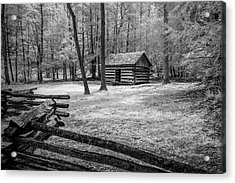 Another Isolated Cabin Acrylic Print by Jon Glaser