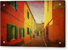 Acrylic Print featuring the photograph Another Morning In Malamocco by Anne Kotan