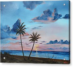 Another Paradise Sunset Acrylic Print by Lloyd Dobson