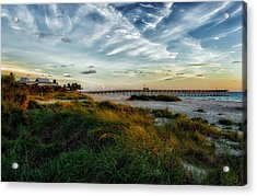 Another Perfect Day Comes To A Close Acrylic Print by Frank J Benz