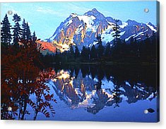 Another Shuksan Reflection Acrylic Print by Todd Kreuter