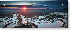 Acrylic Print featuring the photograph Another Sunset At Crater Lake by William Lee