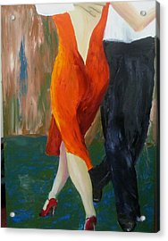 Acrylic Print featuring the painting Another Tango Twirl by Keith Thue