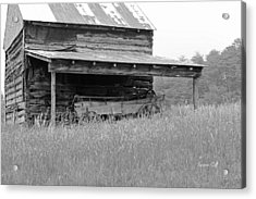 Another Time -- Black And White Acrylic Print by Suzanne Gaff