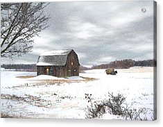 Another Winter Day Acrylic Print by Gary Smith