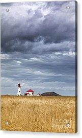 Anse A La Cabane Lighthouse On The Magdalen Islands Acrylic Print