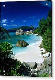 Anse Patatran La Digue Seychelles Acrylic Print by Panoramic Images