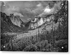 Acrylic Print featuring the photograph Ansel Adams Inspired Yosemite Tunnel View by Scott McGuire