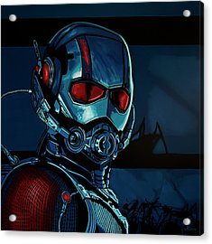 Ant Man Painting Acrylic Print by Paul Meijering