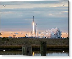 Antares Launch From Wallops Island Acrylic Print