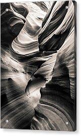 Antelope Canyon Bw Acrylic Print