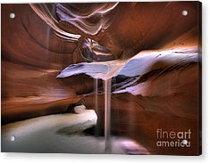 Antelope Canyon Shifting Sands Acrylic Print