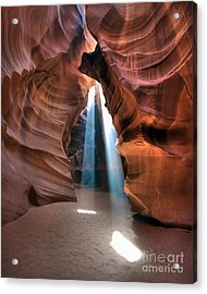 Antelope Canyon Twin Beams Acrylic Print