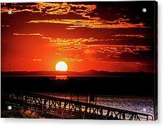 Antelope Island Marina Sunset Acrylic Print