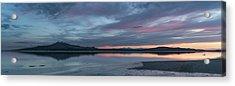 Antelope Island Panoramic Sunset Acrylic Print by Justin Johnson