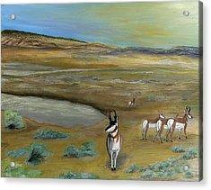 Antelopes Acrylic Print