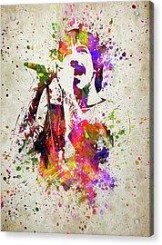 Anthony Kiedis In Color Acrylic Print