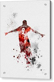 Anthony Martial Acrylic Print by Rebecca Jenkins