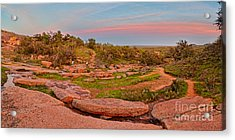 Anti-crepuscular Colors At Enchanted Rock State Natural Area - Fredericksburg Texas Hill Country Acrylic Print by Silvio Ligutti