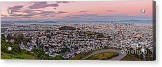 Anti-crepuscule Panorama Of San Francisco From Twin Peaks Scenic Overlook - California Acrylic Print