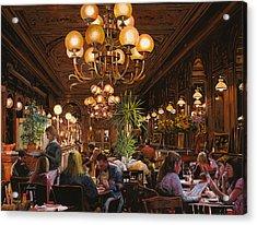 Antica Brasserie Acrylic Print by Guido Borelli