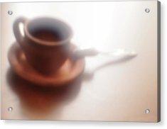 Anticipation Of Coffee Acrylic Print by larisa Fedotova