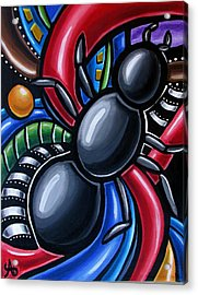 Ant Art Painting Colorful Abstract Artwork - Chromatic Acrylic Painting Acrylic Print
