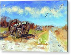 Acrylic Print featuring the digital art Antietam Under Blue Skies  by Lois Bryan